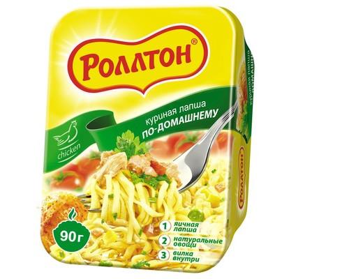 Лапша Роллтон по-домашнему со вкусом курицы 90 г - (539353К)