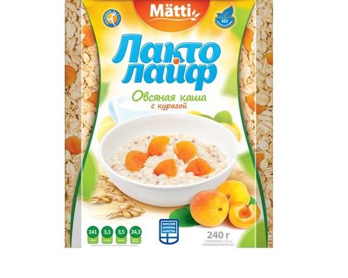 Каша Лактолайф овсяная с курагой 6 штук по 40 г - (421013К)