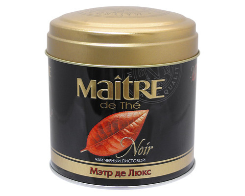 Чай Maitre Noir Де Люкс черный 100 г - (271756К)