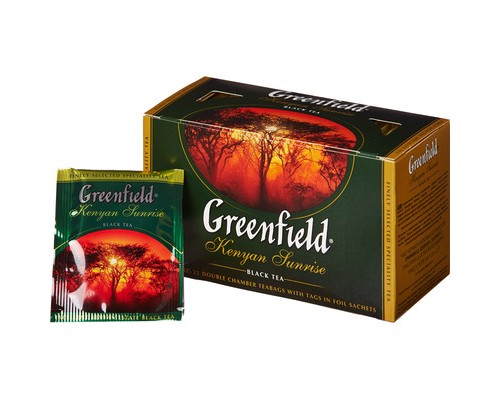 Чай черный Greenfield Kenyan Sunrise 25 пакетиков - (420994К)