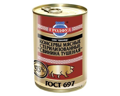 Тушенка Гродфуд из свинины 338 г - (378183К)