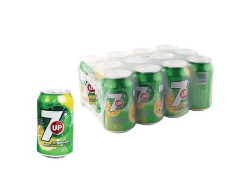 Напиток 7UP лимон/лайм газированный 0.33 л 12 штук в упаковке - (515736К)