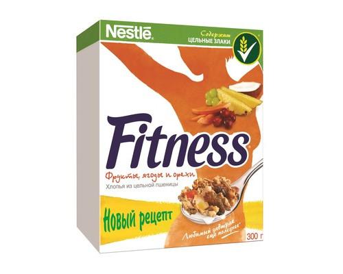 Хлопья Nestle Fitness & Fruits с фруктами ягодами и орехами 300 г - (333297К)