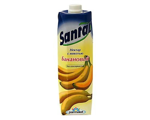 Нектар Santal банан с мякотью 1 л - (499646К)