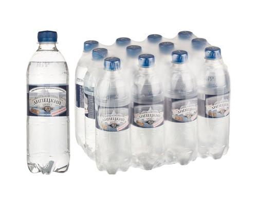 Вода минеральная Липецкий бювет газированная 0.5 л 12 штук в упаковке - (493886К)