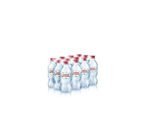 Вода питьевая Святой Источник газированная 0.33 л 12 штук в упаковке - (323836К)