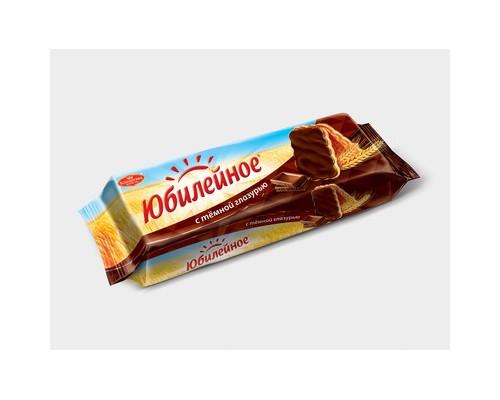 Печенье Юбилейное с шоколадной глазурью 116 г - (66495К)