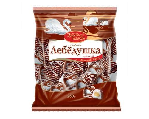 Конфеты шоколадные Красный Октябрь Лебедушка с начинкой Мягкий ирис 250 г - (419662К)