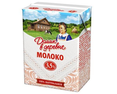Молоко Домик в деревне ультрапастеризованное 3.5% 200 г 18 штук в упаковке - (205626К)