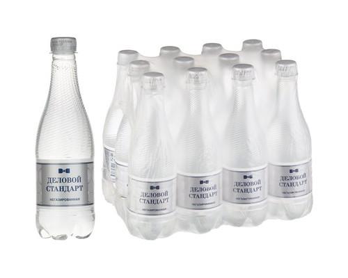 Вода питьевая Деловой стандарт негазированная 0.5 л 12 штук в упаковке - (501782К)