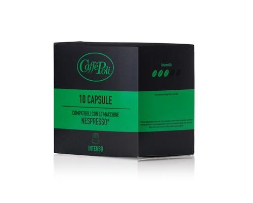 Капсулы для кофемашин Caffe Poli Intenso 10 штук в упаковке - (575334К)