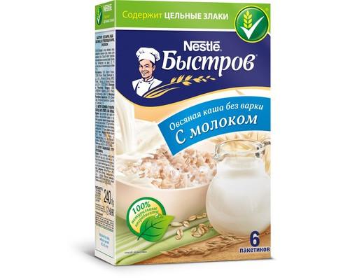 Каша Nestle Быстров овсяная с молоком 6 штук по 40 г - (494746К)