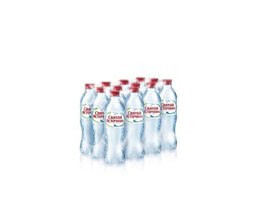 Вода питьевая Святой Источник газированная 0.5 л 12 штук в упаковке - (73495К)