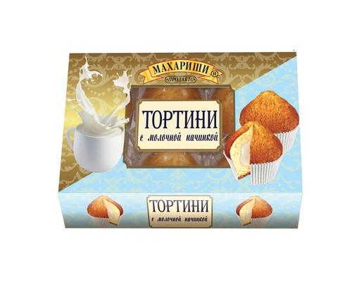 Кексы Махариши Тортини с молочной начинкой 200 г - (494729К)