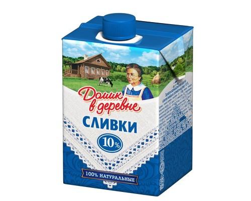 Сливки Домик в деревне стерилизованные 10% 200 г - (79287К)