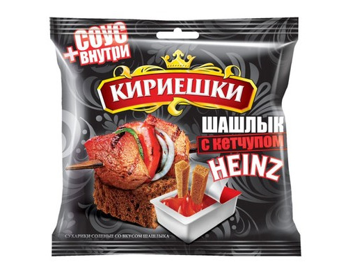 Сухарики Кириешки ржаные шашлык + кетчуп 60 г + 25 г - (450258К)