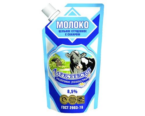 Молоко сгущенное Алексеевское с сахаром 8.5% 270 г - (441604К)