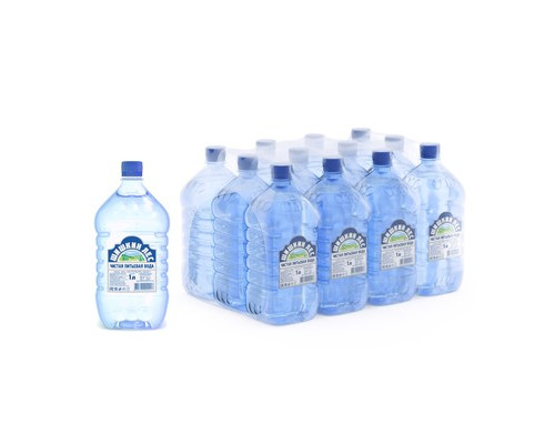 Вода питьевая Шишкин лес негазированная 1 л 12 штук в упаковке - (500270К)