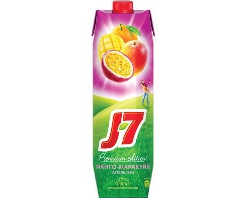 Нектар J7 апельсин/манго/маракуйя с мякотью 0.97 л - (393359К)