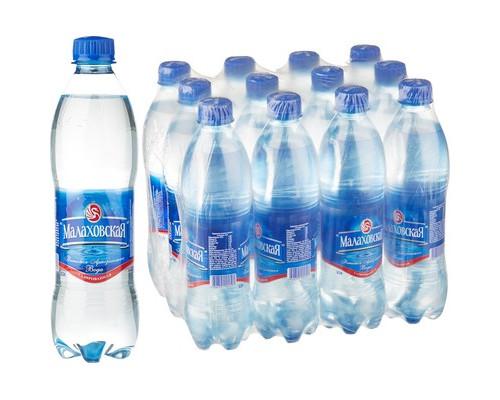Вода питьевая Малаховская газированная 0.5 л 12 штук в упаковке - (634900К)