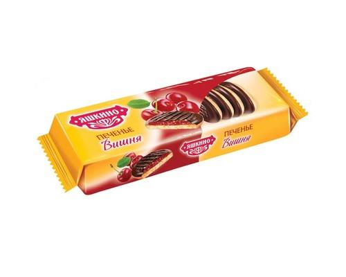 Печенье сдобное Яшкино вишня 137 г - (450215К)