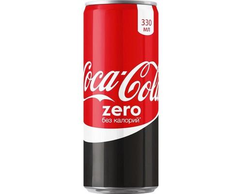Напиток Coca-Cola Zero газированный 0.33 л - (476226К)