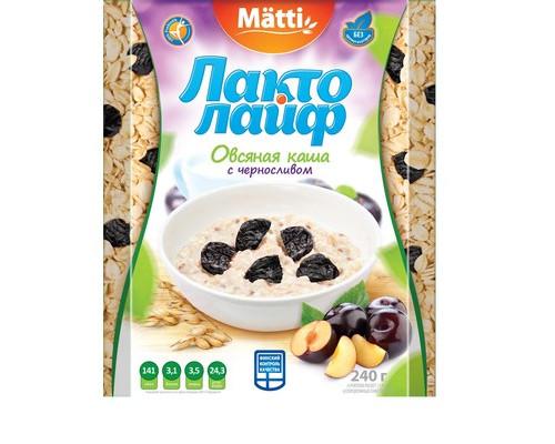 Каша Лактолайф овсяная с черносливом 6 штук по 40 г - (421014К)