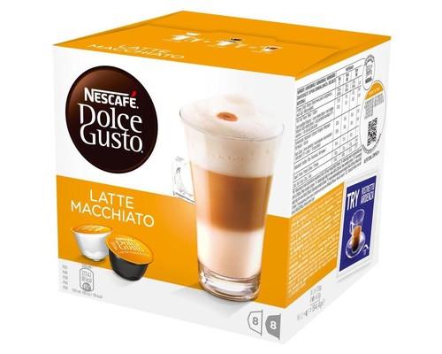 Капсулы для кофемашин Dolce Gusto Latte Macchiato 16 штук в упаковке - (185133К)