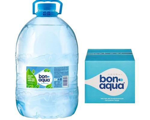 Вода питьевая BonAqua негазированная 5 литров 4 штуки в упаковке - (172665К)