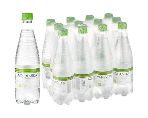 Вода минеральная Акваника премиум негазированная 0.618 л 12 штук в упаковке - (493892К)