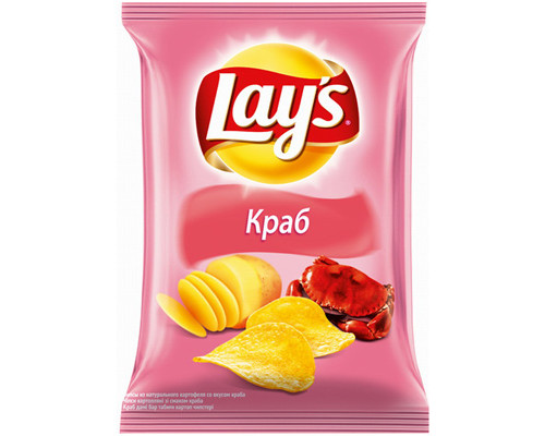 Чипсы Lays со вкусом краба 80 г - (327362К)