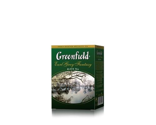 Чай Greenfield Earl Grey Fantasy черный с бергамотом 100 г - (420999К)