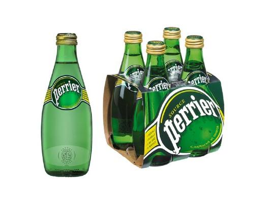 Вода минеральная Perrier газированная 0.33 л 4 штуки в упаковке - (497278К)