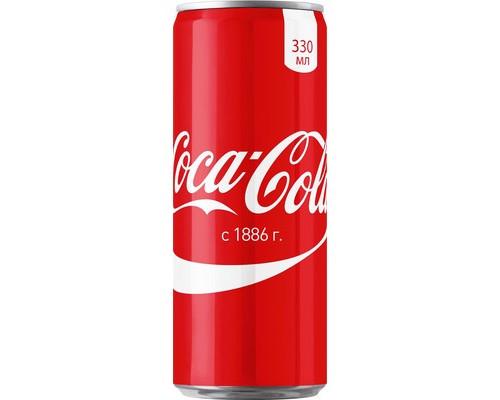 Напиток Coca-Cola газированный 0.33 л - (406350К)