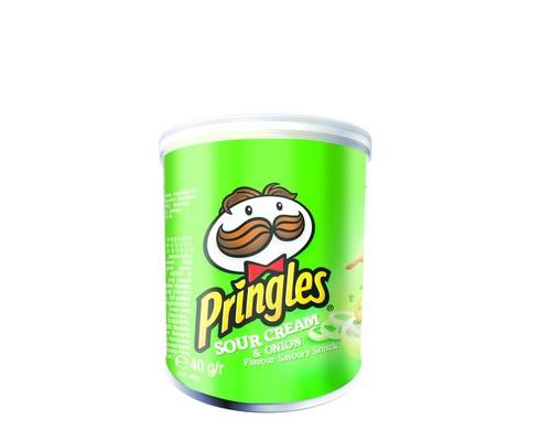 Чипсы Pringles со вкусом сметаны и лука 40 г - (403229К)