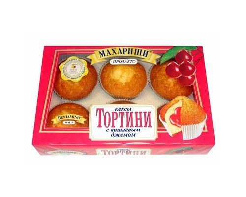 Кексы Махариши Тортини с вишневом джемом 200 г - (494728К)
