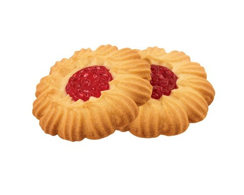Печенье сдобное Курабье с вишневым джемом 4 кг - (450222К)