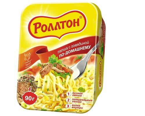 Лапша Роллтон по-домашнему со вкусом говядины 90 г - (539352К)