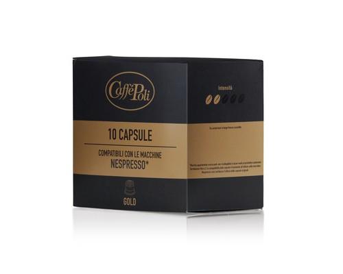 Капсулы для кофемашин Caffe Poli Gold 10 штук в упаковке - (575335К)