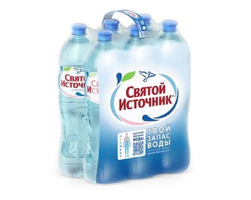 Вода питьевая Святой Источник пэт 1,5л негазированная 6 штук в упаковке - (640487К)