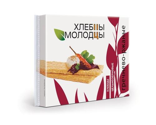 Хлебцы Молодцы гречнево-ржаные 110 г - (463721К)