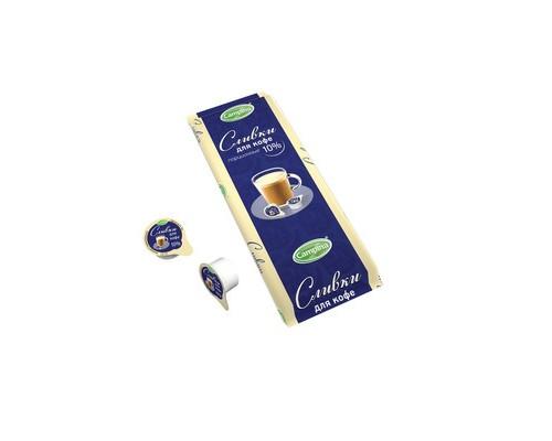 Сливки порционные Campina стерилизованные 10% 10 штук по 10 г - (416319К)