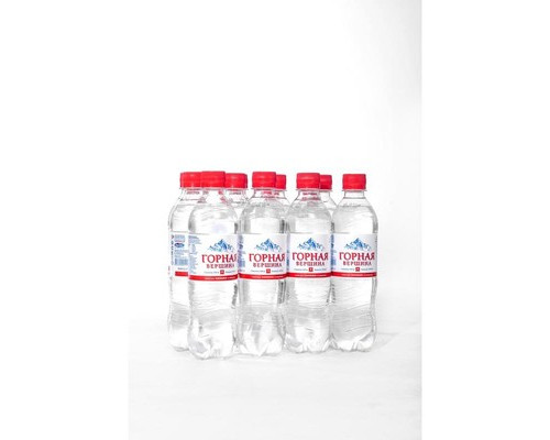 Вода минеральная Горная вершина газированная 0.5 л 12 штук в упаковке - (473655К)