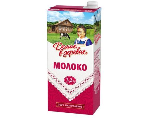 Молоко Домик в деревне ультрапастеризованное 3.2% 950 г - (79286К)