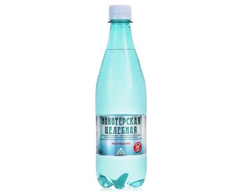Вода питьевая Новотерская газированная 0.5 л 6 штук в упаковке - (496218К)
