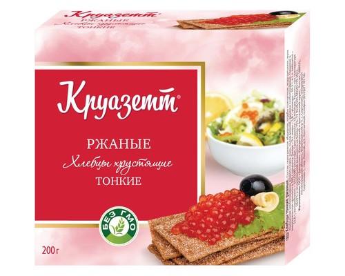Хлебцы Круазетт ржаные тонкие 200 г - (474757К)