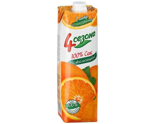 Сок 4 Сезона апельсин 1 л - (499653К)