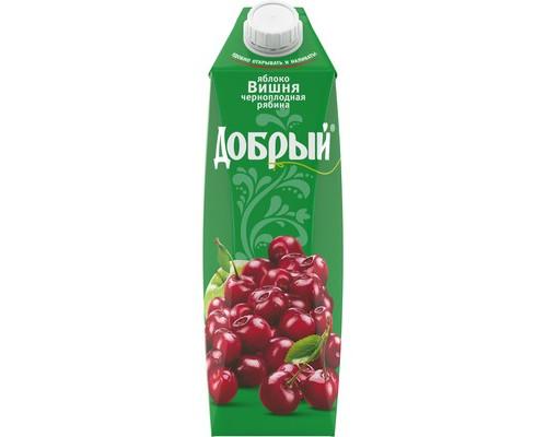 Сок Добрый яблоко-вишня-черноплодная рябина 1 л - (630299К)