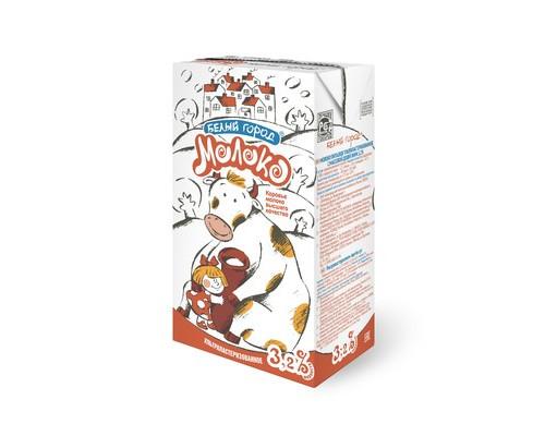 Молоко Белый Город ультрапастеризованное 3.2% 1 л - (543708К)