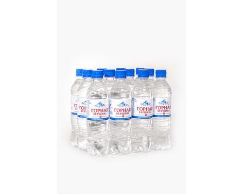 Вода минеральная Горная вершина негазированная 0.5 л 12 штук в упаковке - (473656К)